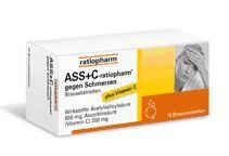 ASS + C ratiopharm gegen Schmerzen 20 Brausetabletten