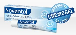 Soventol HydrocortisonACETAT 0.25% 20g Cremogel