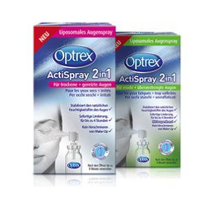 Optrex ActiSpray 2in1 Für trockene + gereizte Augen 10ml Spray