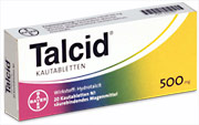 Talcid� Kautablette 500 mg  20 St�ck