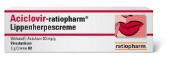 Aciclovir-ratiopharm� Lippenherpescreme 2 g